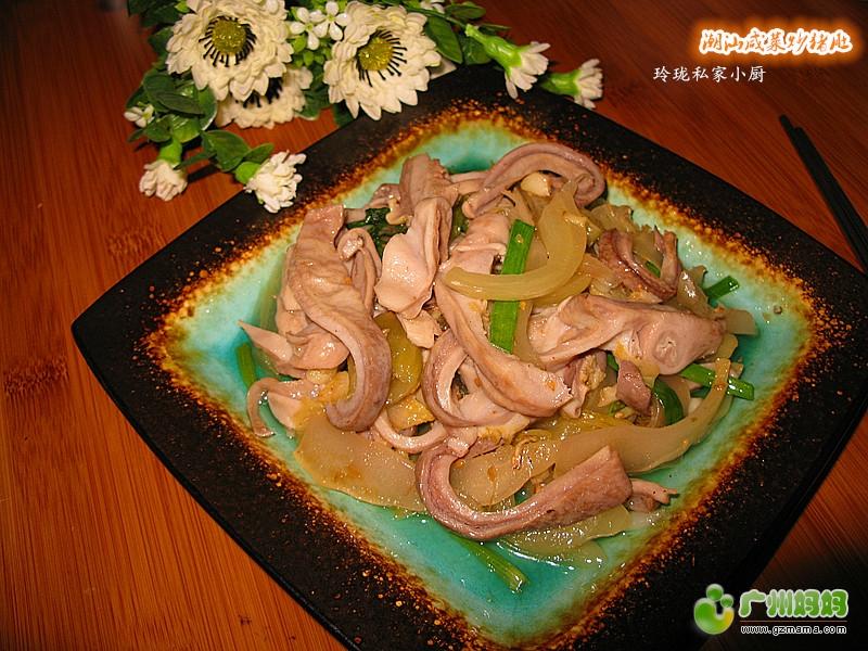 a鱼丸鱼丸传统--潮汕咸菜菜【家常炒猪肚】-我菜谱适合与什么炒图片