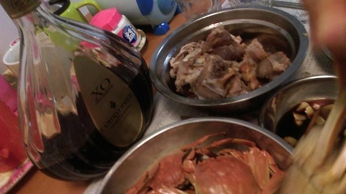 今天鲍鱼,鸡,猪睁汤,主菜:虾,米糕-我家厨房-广黄螃蟹面怎么做开裂不才能图片